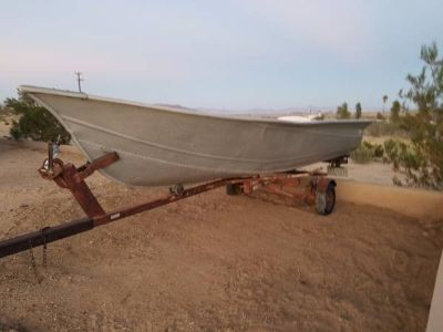 13'-14' Aluminum Fishing Boat with trailer
