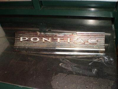 1964 Pontiac GTO Lemans Rear Panel Gas Fuel Filler Door Trim Molding 5718918