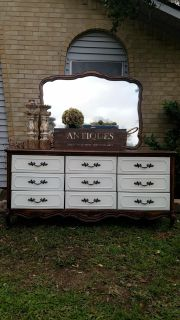 695.00 for dresser and mirror pick up Jones creek can deliver once seen