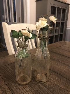Antique bottles with flowers-PPU gallatin