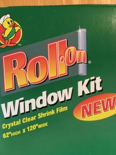 Window roll on clear shrink film 3 indoor