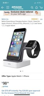 Belkin charging station for Apple cell & watch