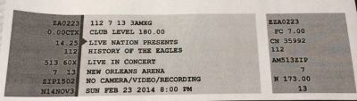 Great seats Eagles tickets