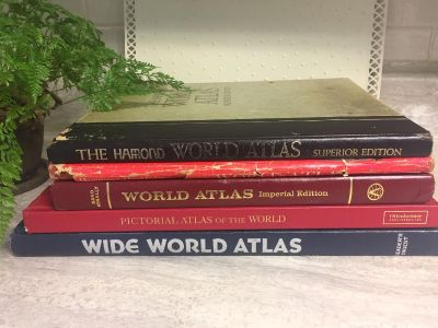 Collection of 5 Vintage World Atlases. All for $25. CP.