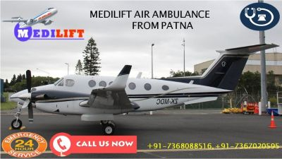Avail Low-Budget by Medilift Air Ambulance Services in Patna