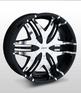 """Buy 22x9.5 Forte F40 """"Nokturnal"""" (Black Mirror) Wheel/Rim(s) 5x135 5-135 22-9.5 motorcycle in Cincinnati, Ohio, US, for US $277.00"""