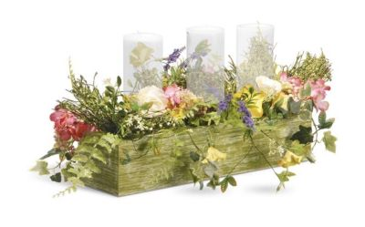 NEW! National Tree Company 22-Inch Spring Collection Candle Holder