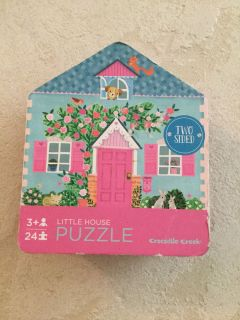Little House Puzzle 2 Sided! NEW!