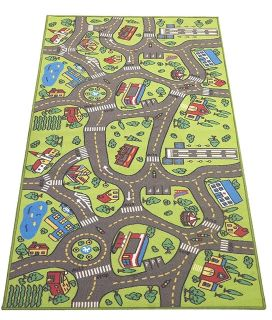 Large road and city rug for cars.