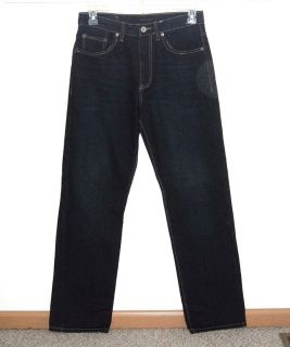 Calvin Klein Relaxed Straight Easy Fit Denim Jeans Mens Tag 31 Measures 30x33