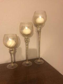 Tiered candle stands