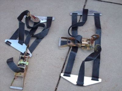 Find pair of mac dragster trailer hold downs - BRAND NEW - never used !!! motorcycle in Monee, Illinois, United States