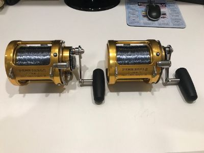 SOLD-(2) -Penn 50 SW-2 Speed Reels -MINT