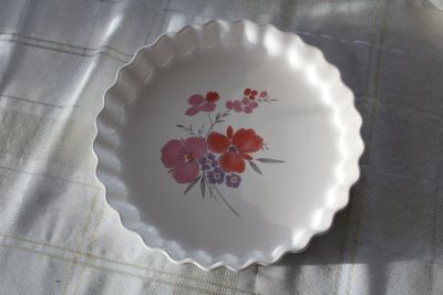 Vintage 1985 Galleria Collection Stoneware 10 Dessert Serving Plate Pie Dish Japan