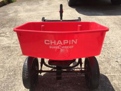 Chapin pull behind spreader