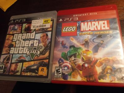 Ps3 gta 5 and lego marvel