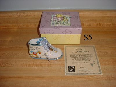 Baby Steps Treasured Porcelain Our Little Cowboy Keepsake With Photo Locket & Certificate Of Authenticity (New Condition). Etched On...
