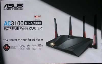 Asus AC3100 RT AC88U wireless router (best on market and never used)