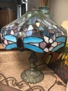 Antique Dragonfly Lamp
