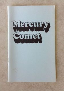Purchase 1974 Mercury Comet Owners Manual motorcycle in Bloomfield Hills, Michigan, United States