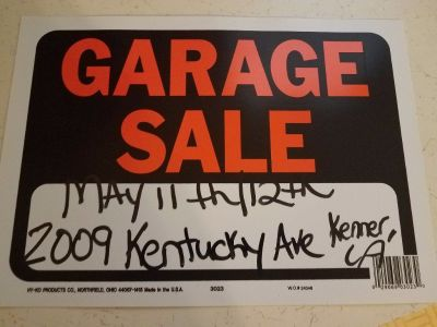 Huge kenner louisiana Garage Sale