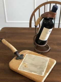 Decorative wine holder and cheese display