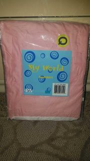 New in package pink Queen size bed skirt
