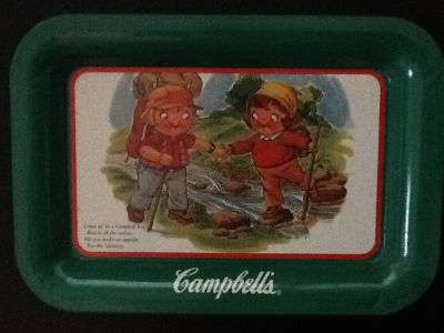 Set of 2 Vintage Campbell Soup Kids Trays