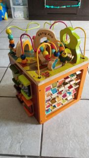 Solid wood activity center