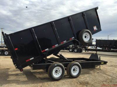 Tandem Axle Bumper Pull Dump Trailer, Equipment Dump Trailer,  Big Tex Trailers 14LX-16-4
