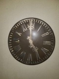 pottery barn metal decorative clock