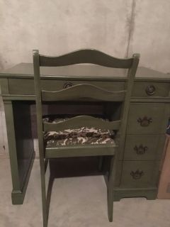 Desk or vanity with chair