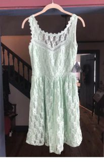 Dress Sz. 1 (x-small) NWT Boutique (dance, wedding, formal, lace) Vintage look