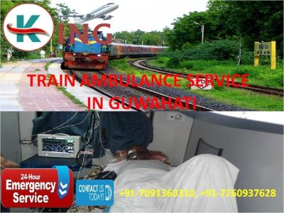 Take Prime Relocation Train Ambulance Service in Guwahati by King
