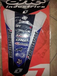 Purchase ONE INDUSTRIES....REAR FENDER SPONSOR KIT......ONE INDUSTRIES motorcycle in North Hollywood, California, US, for US $5.99