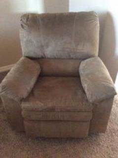 Ashley Furniture Suede Recliner Chair