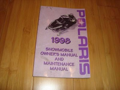 Sell 1998 Polaris Owners Manual Snowmobile Maintenance Guide motorcycle in Green Bay, Wisconsin, United States, for US $15.00