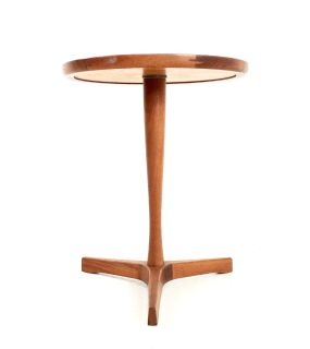 Mid Century Hans C. Anderson Pedestal Side Table
