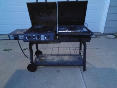 Large outdoor grill charcoal or gas