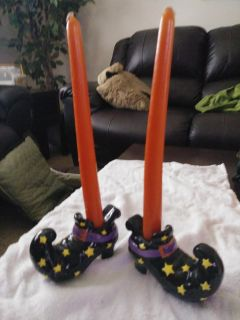 Witch shoe candle holders