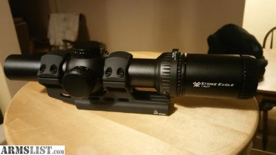 For Sale: Vortex strike eagle 1-8 with mount and quick throw