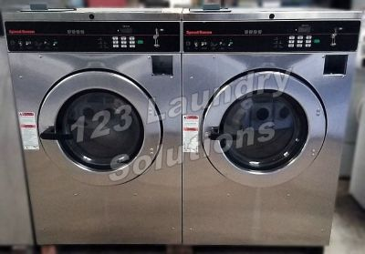 Fair Condition Speed Queen Stainless Steel Front Load Washer 220-240v 60Hz 1/3 Phase 40lbs Used