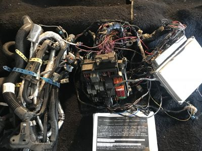 LS wiring harness and pcm
