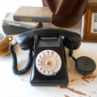 1964 Rotary Telephone. Black Bakelite Dial Phone.