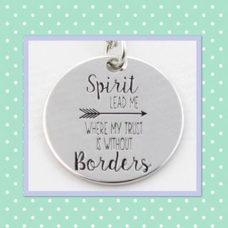 Spirit Lead Me... silver pendant necklaces with 18 chain, $3 each! PERFECT for Easter or Basket stuffers!