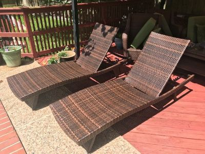 Poolside Chaise Lounge Chairs (sold as set)