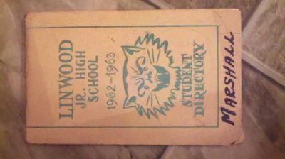 $10 Linwood Jr. High School, Student Directory 1962-1963