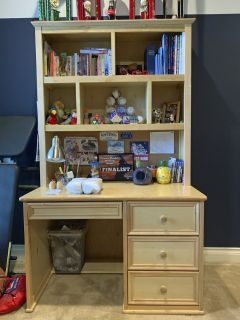 Solid Birch Desk and Hutch (Twin Bunk Bed and Dressers Also Available)