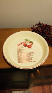 Deep dish pie plate microwave and dishwasher safe great for cobbler