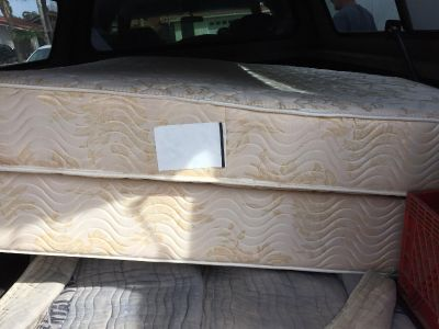 Full size box spring and mattress